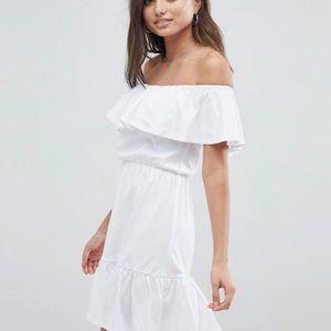 ASOS DESIGN off the shoulder sun dress